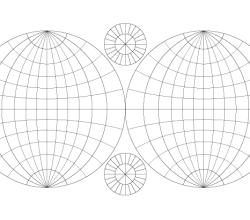 Double Hemisphere Map Vector Template