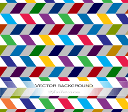 Abstract Colorful Chevron Background Vector