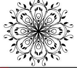 Ornate Floral Design Element Vector Art