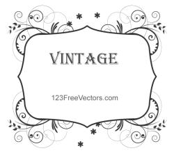 Vintage Floral Frame Images