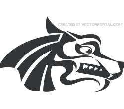 Wolf Head Clip Art Image