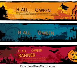 Halloween Banners Vector Free Download