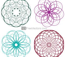 Vector Circle Decorative Design Elements Set-5