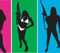 Girls With Gun Vectors