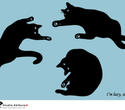 Black Cat Silhouettes Vector Free