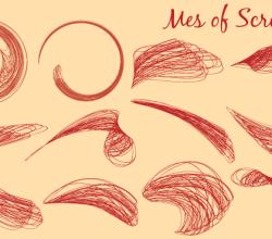 Vector Swoosh Scribbles  Graphics