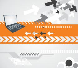 Computer Technology Background Vector Design