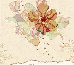 Vector Vintage Floral Background Free Download