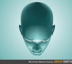 Mind Power Mystery Head Vector