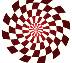 Colorful Optical Illusion Background Illustration