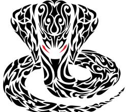Vector Tribal Cobra Snake Tattoo