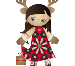 Miss Santa Claus – Christmas Vector Freebie
