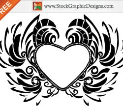 Free Hand Drawn Valentine's Day Love Heart Vector