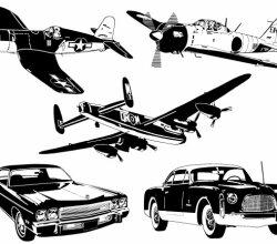 Car &Amp; Plane Vector
