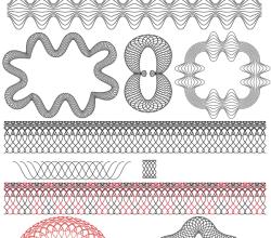 Free Guilloche Patterns Illustrator Brushes