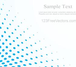 Blue Halftone Dot Pattern Background Vector Illustrator