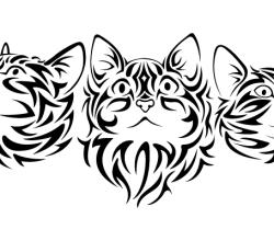 Tribal Cat Vector Image