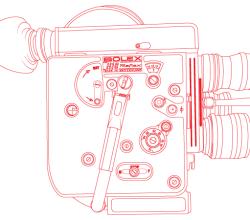 Vector Bolex H16 Reflex Camera Outline
