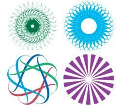 Vector Colorful Shapes Design Elements