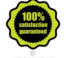 100% Satisfaction Guaranteed Vector