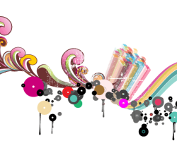 Vector Abstract Colorful Drops Background Design