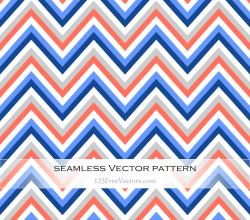 Colorful Chevron Seamless Pattern Vector