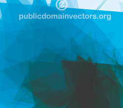 Blue Abstract Vector Background Illustration