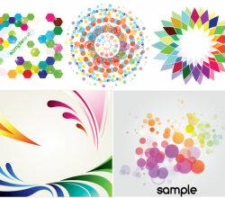 Colorful Backgrounds Decorative Elements Vector Art
