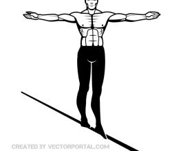 Man on Wire Clip Art