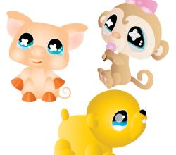 Free Cartoon Animals Vector Graphics