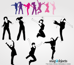 Vector Women Silhouettes in Motion