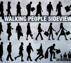Free Vector Walking People Silhouette