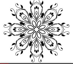 Ornate Decorative Element Vector Design