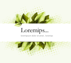 Green Banner with Leaves Free Vector
