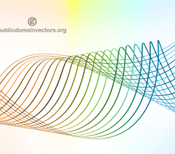 Abstract Flow Curves Background Design
