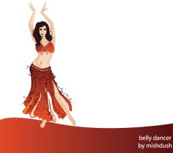 Vector Belly Dancer