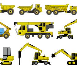 Vector Construction Machines Illustrator Pack 2