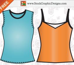 Apparel Ladies Sleeveless Shirt Template Free Vector