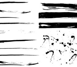 Grunge Paint Splashes Vector Free