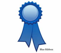 Blue Ribbon Vector