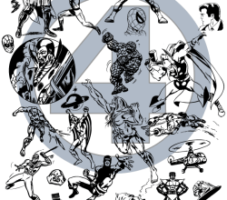 Super Heroes Vector Illustrator Pack