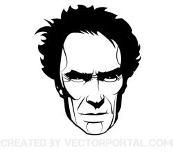 Clint Eastwood Vector Portrait Image