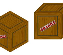 Vector Wooden Crate