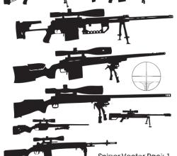 Gun Vector Sniper Rifle Free Illustrator Pack