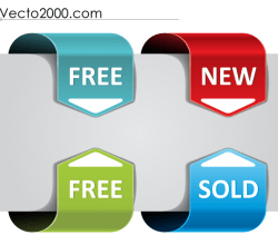 Web Arrows Pointing Vector Free
