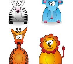 Zoo Animals Free Illustrator Vector Pack