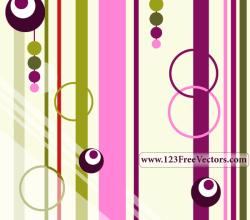 Colorful Retro Background Vector