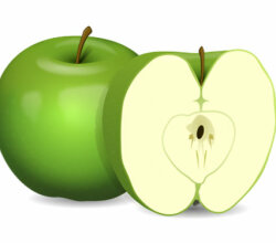 Vector Clip Art Green Apple