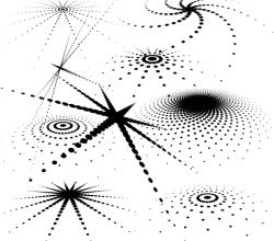 Abstract Halftone Pattern Illustrator Vector