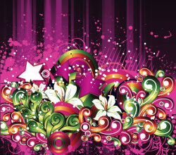 Abstract Floral Grungy Pink Background Design Vector Graphics